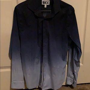 Express long sleeve dress shirt ombré